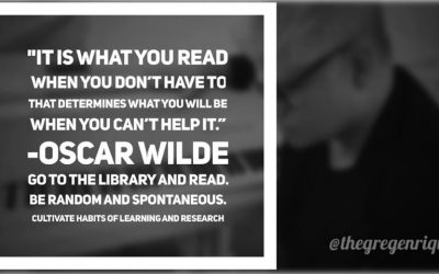 It is what you read when you don't have to that determines what you will be when you can't help it.